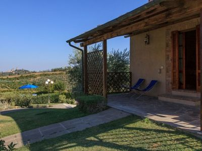 Photo for One Bedroom Ground Floor Apartment  San Gimignano  Il Granaio is a pretty detached cottage on a lovely
