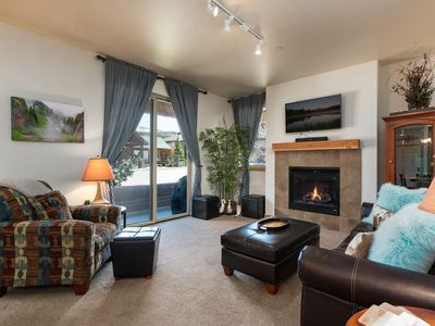 Photo for FLEXIBLE CANCELLATION | Walk Out Condo | Pool + Hot Tub + Gym | DOWNTOWN!