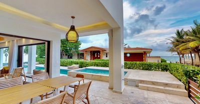Photo for Wonderful 6 Bedroom villa 5 steps to the Best Beach in Playacar