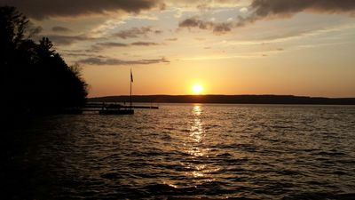 The sunset view from your private dock