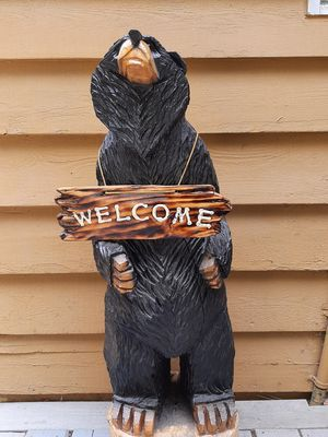 GREETINGS from our Welcome Bear!