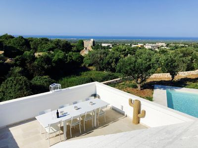 Photo for Stunning Stone Lamia with Pool, Panoramic Sea Views & walking distance to Ostuni