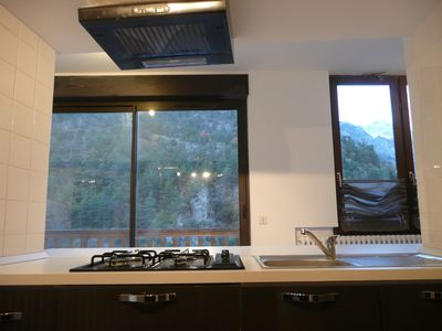 Photo for Beautiful apartment overlooking lake and mountain, near the slopes