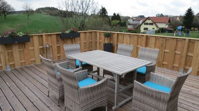 Photo for Sun terrace with great views, relaxation at the edge of Eggegebirge