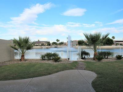 Photo for Sunset Lake House in Arrowhead Lakes overlooking a breathtaking fountain!