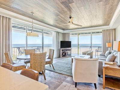 Photo for Top-Floor Oceanfront Corner Condo with Panoramic Views, Newly Renovated Interior, Beachfront Pools