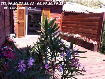 Photo for PROPRIANO 150m BEACH BUNGALOW NEW VERY QUIET
