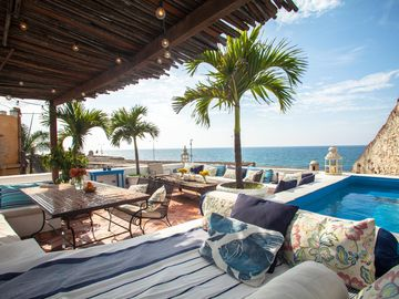 magnificent house in Cartagena spectacular views of the ocean and sunsets