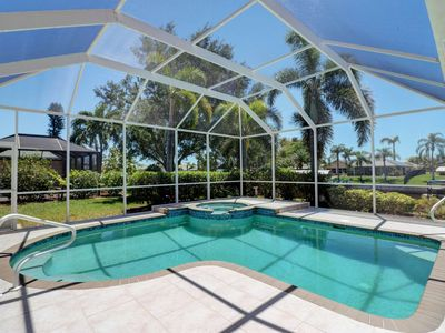 Photo for Two Luxurious Master Suites! Heated Pool & Spa Home on Gulf Access Canal! Free Parking & WiFi!