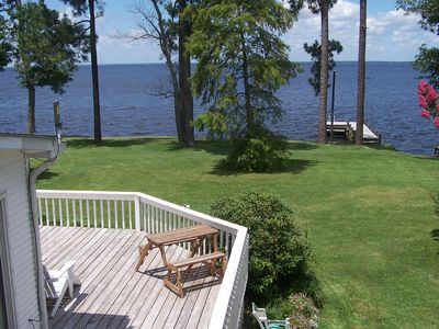 Photo for Waterfront home w/ private 43 ft pier & fantastic views!  *Minimum 2 night stay*