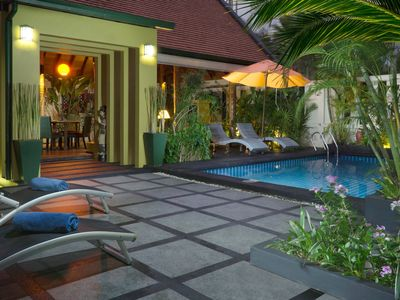 Photo for Tropical style 1 Bed Villa with Pool & wrap around Lotus Pond & Free Transfer