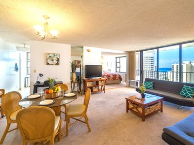 Photo for Fabulous Ocean View Condo with AC, Wifi & Parking | Short Walk to Beach!