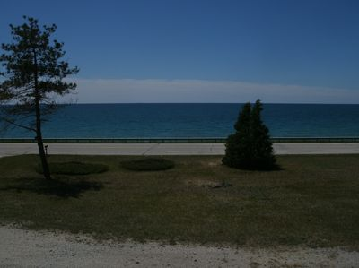 View of Lake Michigan from the upper level of the duplex.