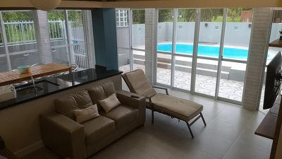 Photo for Beach house with pool, barbecue and playground, 250 meters from the beach.