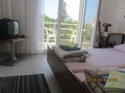 Photo for Seaview double bed room  with balcony, big kitchen, parking in shadow