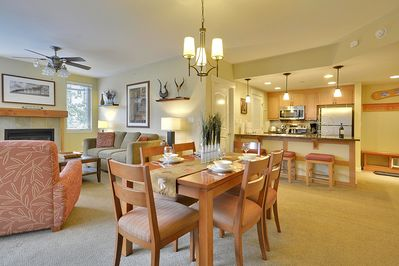 6-Chair Dining Table and View of Full Kitchen