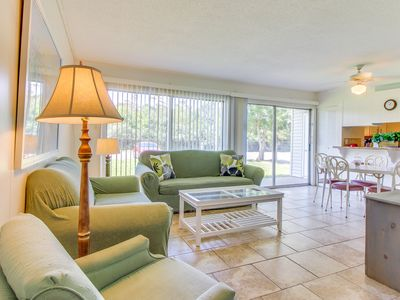 Photo for Comfy condo w/ three pools, tennis courts, & more - walk to the beach & dining!