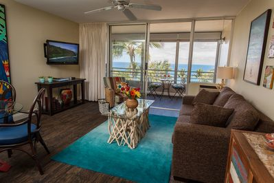 Not photoshopped. Awesome oceans views. Upscale. Designer furnished. Best unit.