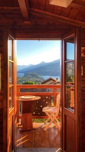 Photo for BELLAGIO single house with garden, bbq, gorgeous view of the lake, private parking