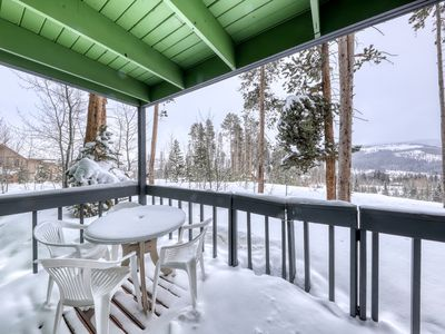 Photo for Peaceful mountain condo w/fireplace, porch, & grill - close to bus stop & town!