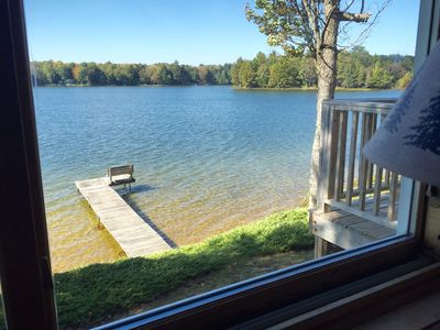Another view of the lake from the sunroom