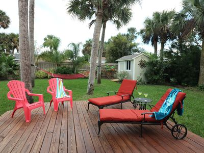 Photo for Comfortable Coastal Cottage, One block off beach, minutes to shopping & dinning