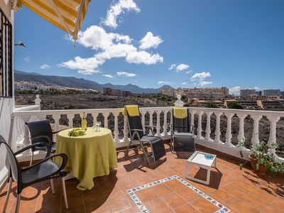 Photo for Holiday Apartment Luar Del Carmen with Mountain View, Sea View, Terrace & Shared Pool