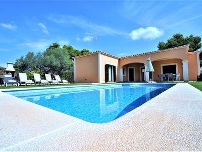 Photo for VILLA MONICA- Stone-lined house in Cala Pi for 8 people, 3 bedrooms, Satellite TV, Private Pool and Barbecue .68800- - Free Wifi