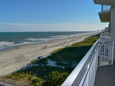 Photo for 3 Bedroom 3 Bath Oceanfront Condo with a private walkway to the beach, Jacuzzi, outdoor/indoor pool, lazy river, fitness room and a beautiful view of the ocean !!