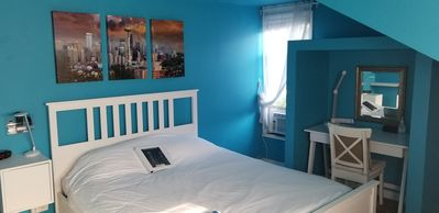 Photo for Cozy Room 4 Less! BLUE rm - Just mins from Airport& Downtown