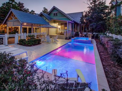Photo for Mint Julep~Chic Designer Watercolor Home! Private Pool and pet friendly!