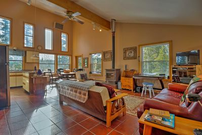 Experience peace and quiet at this 2BR, 1-bath Fairplay vacation rental cabin.