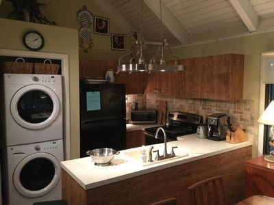 Kitchen with new washer, dryer, and dishwasher!