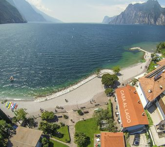 Photo for Casa Toblini lakeside / beach at Torbole, with 1Hallenbad, 2 outdoor swimming pools + sauna