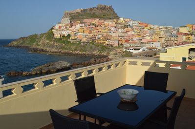 Panoramic view from the huge terrace