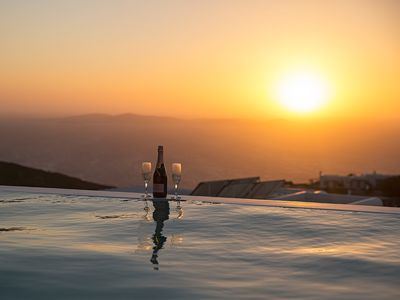 Photo for YOUR NEW HOME IS WAITING Mykonos Villa Ariston 1 Private Pool 3br upto 7guests