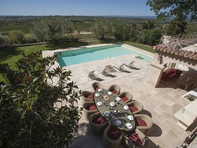 Photo for Winery/monastery: 5* luxury/silent aircon/WiFi/large pool*/gym/incredible views
