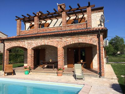 Photo for Luxury 4 Bedroom Stone Villa with Pool, Tennis near Beach