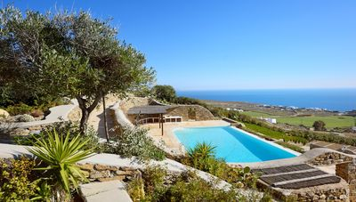 Photo for House in private resort, southern beaches of Mykonos area, swimming pool, sea view