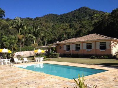 Photo for Beautiful pool house and service included - Araras Fazenda Inglesa biological reserve