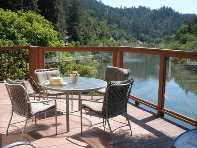 Photo for 'Real Neato' Russian River Front Home in Rio Nido
