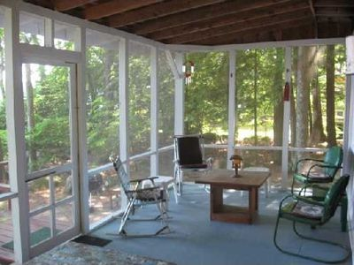 Large waterfront porch with Views and breezes