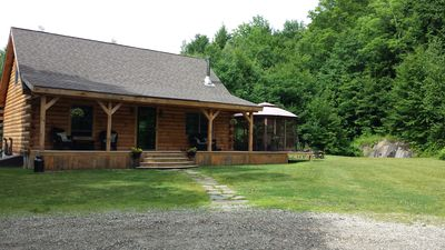 Secluded Log Home Sitting on 10 Acres.