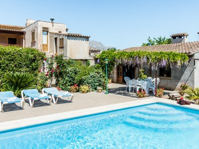 Photo for PANADA - Mallorquin style country house, 3 bedrooms and only 2km from Pollensa