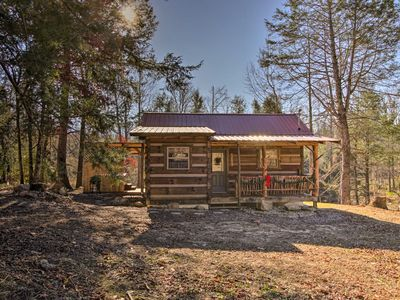 Photo for Peaceful Caney 'Creekside Hideout' Cabin w/Hot Tub