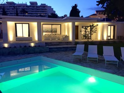 Photo for 4 Beds & 4 Bath, 150mts from the beach, Private pool, BBQ