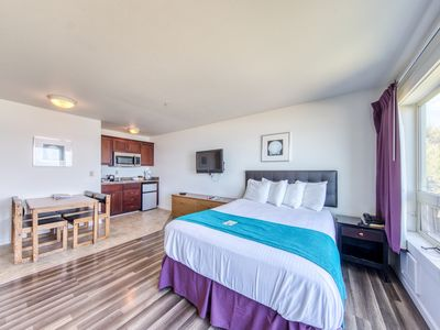 Photo for Dog-friendly suite with shared hot tub & amazing ocean views!