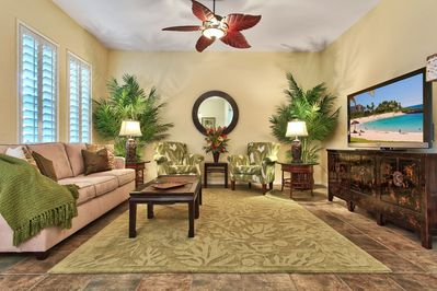 Luxurious and spacious living area with immediate access to your private lanai