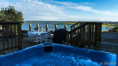 Hot tub with strangford lough view