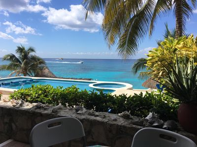 Photo for Oceanfront Condo - Private Beach for Rent in Beautiful Cozumel